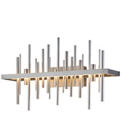 Hubbardton Forge 207915-1011 Cityscape LED Burnished Steel with Vintage Platinum Accent Sconce Wall Light