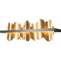 Hubbardton Forge 207916-1042 Hildene LED 26 inch Black/Gold Sconce Wall Light