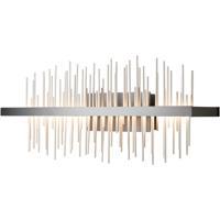 Hubbardton Forge 207917-1013 Gossamer LED 26 inch Black/Vintage Platinum Sconce Wall Light