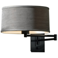 Hubbardton Forge 209250-1000 Simple 23 inch 100 watt Mahogany Swing Arm Sconce Wall Light