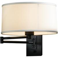 Hubbardton Forge 209250-1023 Simple 23 inch 100 watt Black Swing Arm Sconce Wall Light