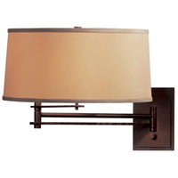 Hubbardton Forge 209301-1040 Forged Bar 30 inch 150 watt Mahogany Swing Arm Sconce Wall Light