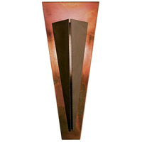 Tapered Angle 1 Light 9 inch Mahogany with Copper Accent ADA Sconce Wall Light