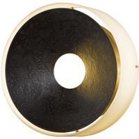 Hubbardton Forge 213310-1006 Oculus 4 Light 12 inch Dark Smoke Sconce Wall Light in Opal