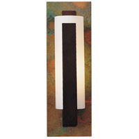 Hubbardton Forge 217185-1048 Vertical Bar 1 Light 5 inch Mahogany with Copper Accent ADA Sconce Wall Light in Opal Incandescent
