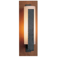 Hubbardton Forge 217185-1039 Vertical Bar 1 Light 5 inch Natural Iron with Cherry Accent ADA Sconce Wall Light in Opal Incandescent