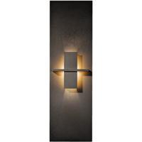 Hubbardton Forge 217520-1004 Aperture 1 Light 7 inch Dark Smoke ADA Sconce Wall Light in White Art