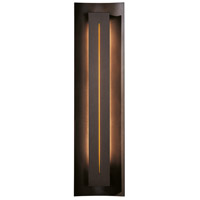 Hubbardton Forge 217635-1038 Gallery 1 Light 7 inch Bronze ADA Sconce Wall Light in Amber Fluorescent