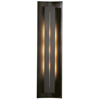 Hubbardton Forge 217635-1008 Gallery 3 Light 7 inch Dark Smoke ADA Sconce Wall Light in Ivory Art Incandescent