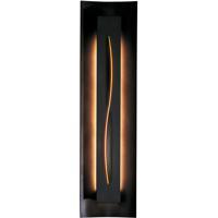 Hubbardton Forge 217640-1042 Gallery 1 Light 7 inch Dark Smoke ADA Sconce Wall Light in Amber Fluorescent