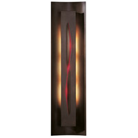 Hubbardton Forge 217640-1007 Gallery 3 Light 7 inch Bronze ADA Sconce Wall Light in Red Incandescent