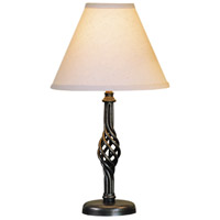 Hubbardton Forge 265101-1005 Twist Basket 17 inch 75 watt Natural Iron Table Lamp Portable Light Small