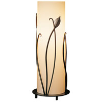 Forged Leaves 18 inch 150 watt Burnished Steel Table Lamp Portable Light