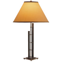 Hubbardton Forge 268421-1026 Metra Double 27 inch 150 watt Natural Iron Table Lamp Portable Light