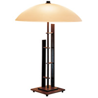 Hubbardton Forge 268422-1000 Metra Double 18 inch 40 watt Mahogany Table Lamp Portable Light