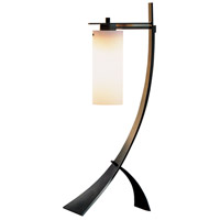 Stasis 28 inch 100 watt Burnished Steel Table Lamp Portable Light