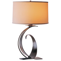 Hubbardton Forge 272678-1008 Fullered Impressions 29 inch 150 watt Dark Smoke Table Lamp Portable Light Large