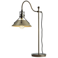 Hubbardton Forge 272840-1130 Henry 27 inch 60 watt Bronze with Soft Gold Accent Table Lamp Portable Light