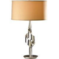 Hubbardton Forge 272930-1005 Flux 100 watt Vintage Platinum Table Lamp Portable Light