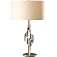 Hubbardton Forge 272930-1009 Flux 100 watt Vintage Platinum Table Lamp Portable Light