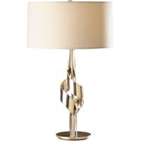 Hubbardton Forge 272930-1014 Flux 100 watt Soft Gold Table Lamp Portable Light