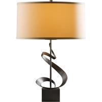 Hubbardton Forge 273030-1010 Gallery 150 watt Dark Smoke Table Lamp Portable Light Spiral