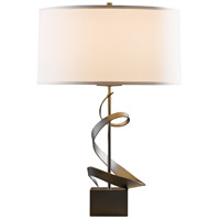 Gallery 23 inch 150 watt Bronze Table Lamp Portable Light, Spiral