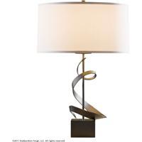 Hubbardton Forge 273030-1013 Gallery 150 watt Dark Smoke Table Lamp Portable Light Spiral