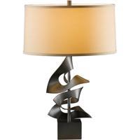 Hubbardton Forge 273050-1010 Gallery 150 watt Dark Smoke Table Lamp Portable Light Twofold