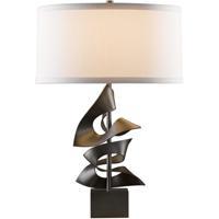 Hubbardton Forge 273050-1013 Gallery 150 watt Dark Smoke Table Lamp Portable Light Twofold
