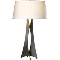Hubbardton Forge 273077-1016 Moreau 150 watt Dark Smoke Table Lamp Portable Light Tall