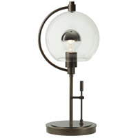 Pluto 19 inch 100 watt Gold Table Lamp Portable Light