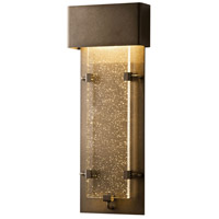 Hubbardton Forge 302501-1008 Ursa LED 24 inch Coastal Dark Smoke Outdoor Sconce, Small