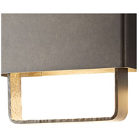 Hubbardton Forge 302510-1008 Quad LED 8 inch Coastal Dark Smoke Outdoor Sconce Small
