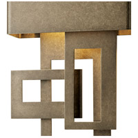 Hubbardton Forge 302520-1018 Collage LED 14 inch Coastal Dark Smoke Outdoor Sconce Small