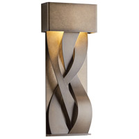 Hubbardton Forge 302527-1006 Tress LED 23 inch Coastal Mahogany Outdoor Sconce, Small