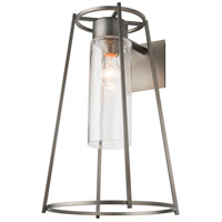 Hubbardton Forge 302573-1010 Loft 1 Light 19 inch Coastal Dark Smoke Outdoor Sconce