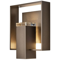 Hubbardton Forge 302603-1010 Shadow Box 1 Light 12 inch Coastal Burnished Steel with Black Accent Outdoor Sconce