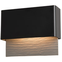 Hubbardton Forge 302630-1005 Stratum LED 7 inch Coastal Black with Coastal Burnished Steel Outdoor Sconce