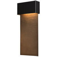 Hubbardton Forge 302632-1003 Stratum LED 22 inch Coastal Black with Coastal Bronze Outdoor Sconce, Large