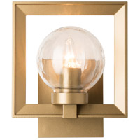 Hubbardton Forge 302641-1005 Frame 1 Light 10 inch Coastal Gold Outdoor Sconce