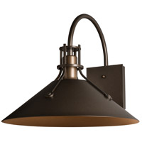 Hubbardton Forge 302713-1000 Henry 1 Light 13 inch Coastal Black Outdoor Sconce, Large