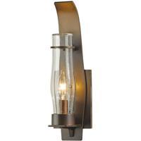 Hubbardton Forge 304210-1020 Sea Coast 1 Light 15 inch Coastal Mahogany Outdoor Sconce Small