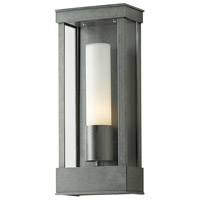 Hubbardton Forge 304320-1009 Portico 1 Light 15 inch Coastal Burnished Steel Outdoor Sconce Small