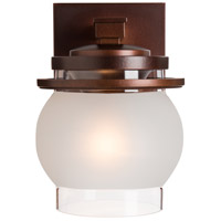 Hubbardton Forge 304340-1007 Bay 1 Light 9 inch Coastal Mahogany Outdoor Sconce, Small