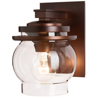 Hubbardton Forge 304340-1006 Bay 1 Light 9 inch Coastal Mahogany Outdoor Sconce, Small