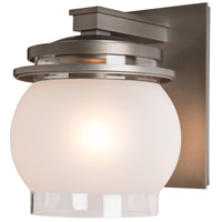 Hubbardton Forge 304342-1011 Bay 1 Light 10 inch Coastal Dark Smoke Outdoor Sconce
