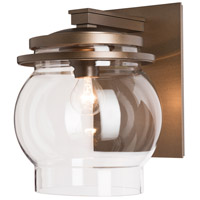 Hubbardton Forge 304344-1008 Bay 1 Light 13 inch Coastal Bronze Outdoor Sconce, Large