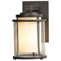 Hubbardton Forge 305605-1008 Meridian 1 Light 10 inch Coastal Dark Smoke Outdoor Sconce Small