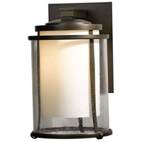 Hubbardton Forge 305615-1007 Meridian 1 Light 16 inch Coastal Bronze Outdoor Sconce Large